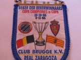 Fanion fotbal Club Brugge-Real Zaragoza, Champions Cup,1995