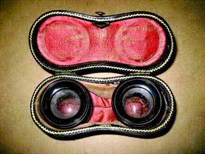 7955-Antic Charles Chevalier-Etui cu lentile obiectiv schimb binoclu alama. foto