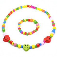 Set multicolor cu inimioare
