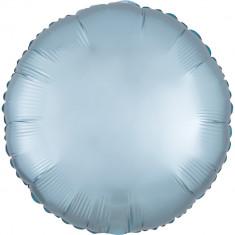 Balon folie 45 cm rotund Satin Luxe Pastel Blue, Radar 39910