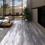 VidaXL Plăci pardoseală autoadezive gri lemn mat 5,02 m² PVC 2 mm