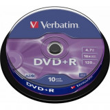 DVD+R Verbatim, 4.7 Gb, 10 Buc