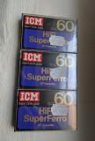 ICM casete audio foarte rare ( an 1981) sigilate manufacturate in Elvetia.