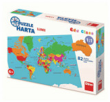 Puzzle geografic - Harta Lumii (82 piese) [ 712126 ]