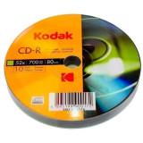 CD-R Kodak capacitate 700 MB, 52X, inscriptibil, set 10 bucati