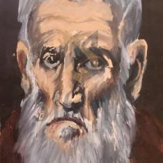 "TABLOU, ""PORTRET DE BĂTRÂN EVREU"", ULEI/PANZA, 24X19 CM"