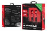 Cablu HDMI Genesis NKA-0788, v1.4, XBOX ONE, XBOX 360, 4 K, 3 m (Negru/Rosu)