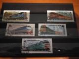 URSS 1982,LOCOMOTIVE,SERIE STAMPILATA, Stampilat