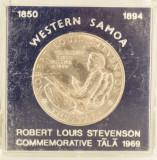 1 tala, 1969 Samoa UNC/ necirculata - comemorativa, tiraj mic 25000 piese