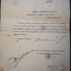 1915 Directiunea CFR, Teodor Simionescu, telegrafist, Dedulești, Buzău, olografe