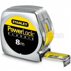 Ruleta PowerLock Classic STANLEY cu carcasa ABS 8m x 25mm