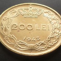Moneda ISTORICA 200 LEI - ROMANIA, anul 1945  *cod 4341 - UNC din SACULET BANCAR