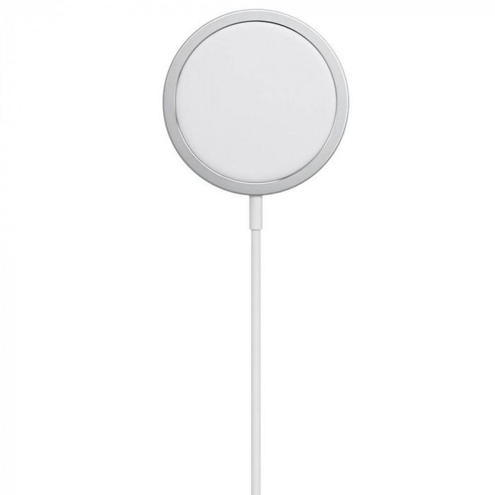 Incarcator wireless original Apple Magsafe Charger MHXH3ZM/A Type C 15W alb