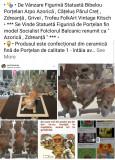 """Statuetă Figurină Bibelou Porțelan Arpo """" Azorică , Grivei Zdreanță Cățel Dog """""""