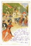 4290 - Baile HERCULANE, Litho, Romania - old postcard - used - 1902, Circulata, Printata