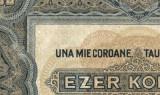Y454 ROMANIA UNA MIE COROANE 1000 KORONA 1920 UNGARIA aUNC