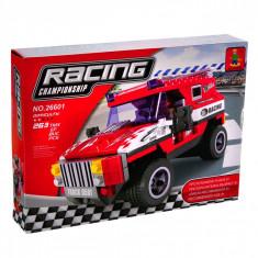 Set cuburi Lego, actual investing, model jeep de curse, 263 piese