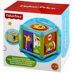 Jucarie interactiva bebelusi, fisher price, model cub cu diferite animale