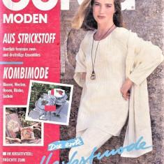Burda revista moda croitorie insert in limba Germana 48 tipare 8/1993