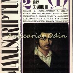 Manuscriptum. Revista Tremestriala - Nr.: 2/1972 (7), Anul III