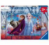 Puzzle Ravensburger Frozen II, 2 x 12 piese