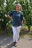 Bluza de vara tip camasa Jeniffer ,model cu broderie si paiete ,nuanta de bleumarin, 38, 40, 42, 44, 46, 48