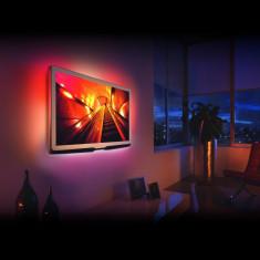 Set banda LED RGB Phenom pentru iluminare fundal TV, telecomanda, USB, 2x30 cm + 2x50 cm