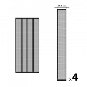 Perdea pt. usa din plasa anti-tantari, 4 benzi, max. 100 x 220 cm, negru Best CarHome