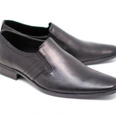 Pantofi barbati eleganti din piele naturala box - MARCONSEL