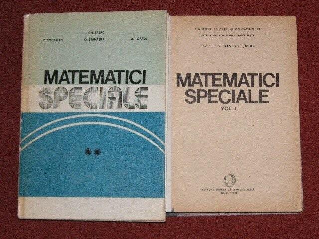 Ion Gh. Sabac - Matematici speciale - vol. I si ll