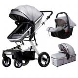 Carucior bebe 3in1,pliabil,scaun auto,patut portabil,bidirectional,4 anotimpuri, Altele