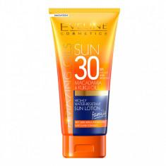 Lotiune de plaja, Eveline Cosmetics, SPF 30, Rezistent la apa, 200 ml