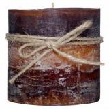 Lumanare parfumata, model aromatic caramel, 6,8×7,2 cm, maro