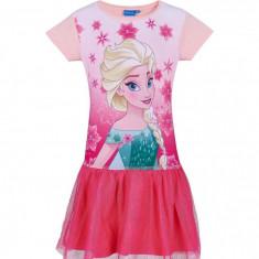 Rochie fete cu tulle Elsa Frozen fucsia, 8 ani, 128 cm