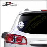 Skull Dacia  -Stickere Auto-Cod:VIS-075-Dim.  15 cm. x 11.9 cm.