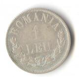 Moneda din argint 1 Leu 1873 - Romania Regat