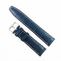 Curea de ceas Albastra din piele naturala - 20mm, 22mm - WZ3394