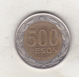 bnk mnd Chile 500 pesos 2012 bimetal