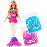 Jucarie Papusa Barbie Sirena Mermaid Dreamtopia Slime GKT95 Mattel