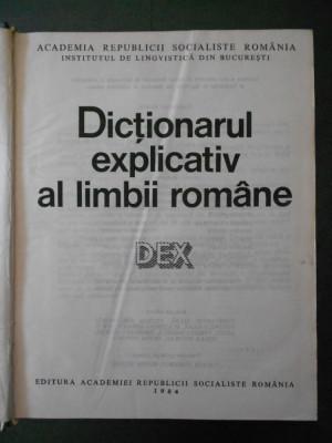 DICTIONARUL EXPLICATIV AL LIMBII ROMANE {1984} foto