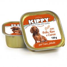 Pate Kippy dog, cu pui, orez si morcov, 150g