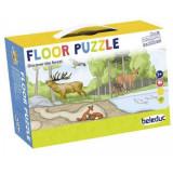 Puzzle de podea Beleduc Descopera padurea, 120 cm lungime, 40 de piese