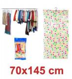 Umeras cu Sac Vidare pentru Depozitare Haine, Dimensiuni 70x145 cm