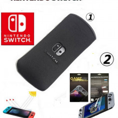 Husa Nintendo Switch Soft Negru + Screen Protector - 296