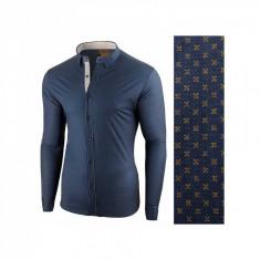 Camasa pentru barbati bleumarin galben flex fit Lumieres du Soir