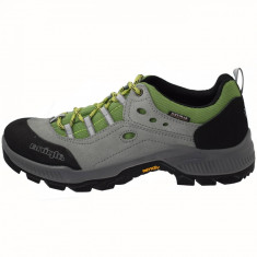 Pantofi tip adidasi de barbati, din piele si sintetic, Alpina, 632A-1-49-23, gri cu verde
