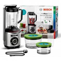 Blender vacuum Bosch Vita Maxx MMBV625M, 1000 W, 37.000 rpm, functie auto, puls, cana Tritan, 1.5 l, inox