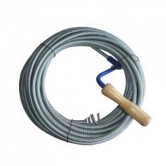 Cablu (sarpe) spirala pentru desfundat tevi de scurgere, Strend Pro KPZ, lungime 15m, cap 2.5cm, cablu 10mm