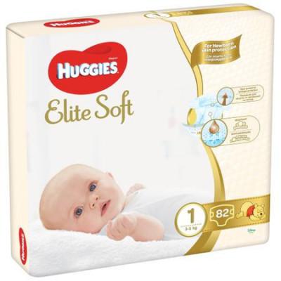 Scutece Huggies Elite Soft Nr.1, 3-5 kg, 82 buc foto