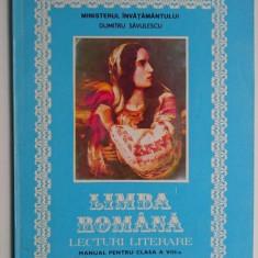 Limba romana  Lecturi literare Manual pentru clasa a VIII-a - Dumitru Savulescu, Clasa 8, didactica si pedagogica
